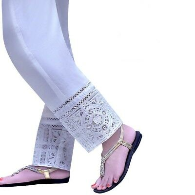 Indian/Pakistani Ladies readymade Organza Jaal Shalwar/Pant Trouser-Stitched