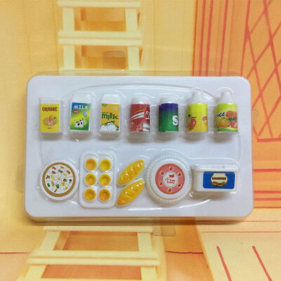 12X Dollhouse Mini Kitchen Food Drinks Bread Cake Set for Barbie Doll Toy Great