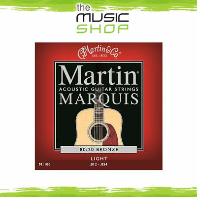 New Martin Marquis 80/20 Bronze Acoustic Guitar Strings 12-54 Light - M1100
