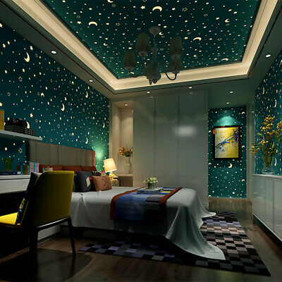 Glow in the Dark Contact Paper Self Adhesive Non Woven Wallpaper Home Wall Decor