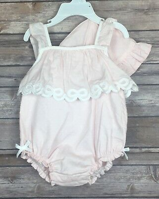 394ccca7f1da New Catherine Malandrino Mini Baby Girl 3-6 Months Pink Lace One Piece w