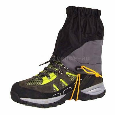 Outdoor Silicon Coated Nylon Waterproof Ultralight Gaiters Leg Protection N4Y3