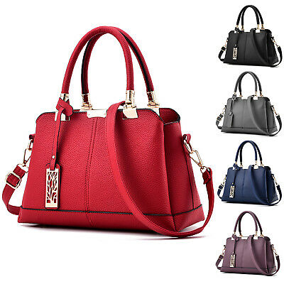 Handbag Leather Briefcase Women Ladies Shoulder Bag Tote Purse Messenger Satchel