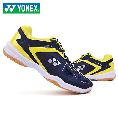 [YONEX] POWER CUSHION 35EX WIDE Navy Yellow Unisex Badminton Shoes Free Tracking
