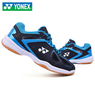 [YONEX] POWER CUSHION 35EX Black Blue Unisex Badminton Shoes Free Tracking