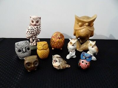Owl Collection BBB Ornaments Figurine Hobby Vintage Wise Owls Gift Party Favor