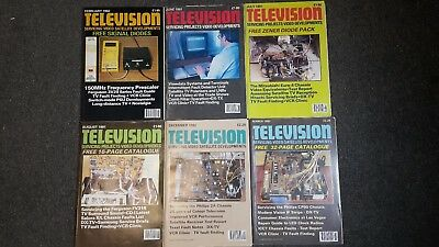 Television (Servicing-Video-Satellite-Developments) Magazine Mixed Collection