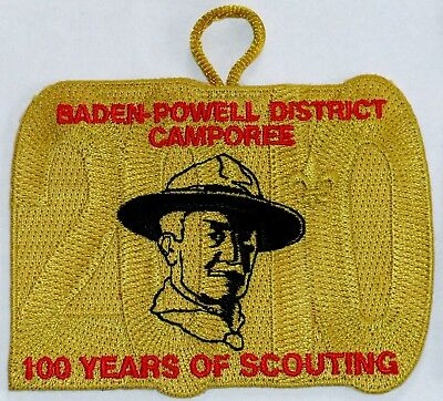 Cradle of Liberty Council (PA) 2010 Baden Powell Dist Camporee Pocket Patch  BSA