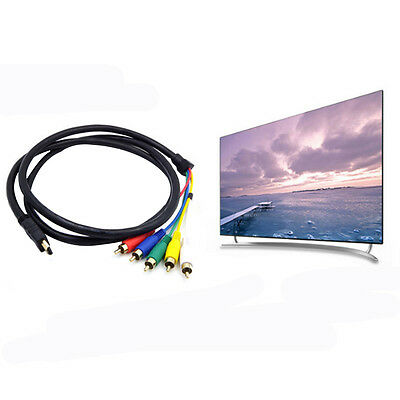 5FT 1080p HDMI Male to 3 RCA AV Audio Video Cable Cord Adapter For TV HDTV DVD