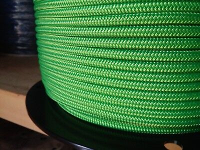 "1/4"" x 100 ft.Premium Polyester Halter Rope.Neon Green"