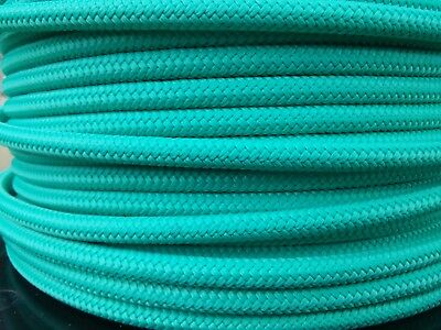 """1/4"""" x 200 ft.Premium Polyester Halter Rope.Turquoise"""