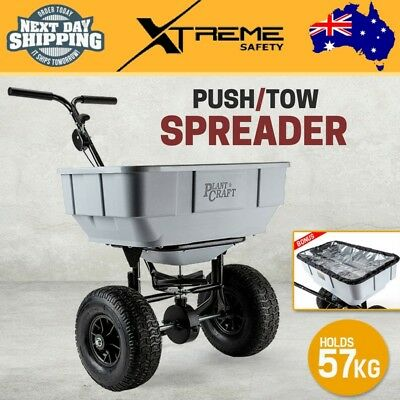 New 2-in-1 Push/Tow Broadcast Spreader Seeder Machinery Tow Seed Fertilizer 57kg