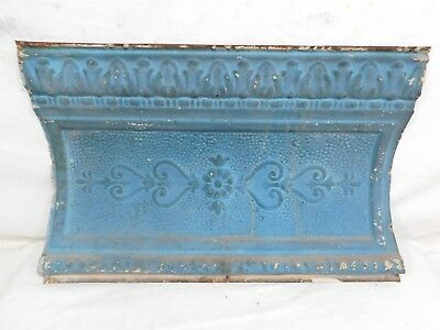 """24"""" Large Victorian Antique Tin Ceiling Cornice - C. 1890 Architectural Salvage"""