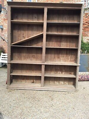 Victorian Pine Library Bookcase / Housekeepers Cupboard
