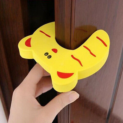 Animal Creative Kids Safe Kid Safety Baby's Lock Baby Finger Stopper Door 4Pcs