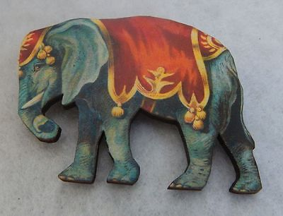 Elephant Pin Brooch Vintage Style Accessories Jewelry Wood Fashion New Lapel