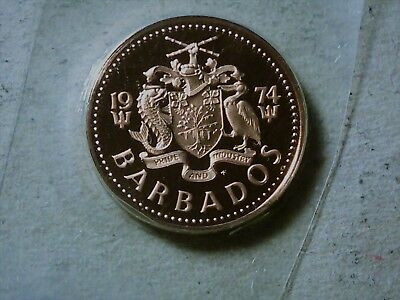 Barbados 1 cent 1974 proof