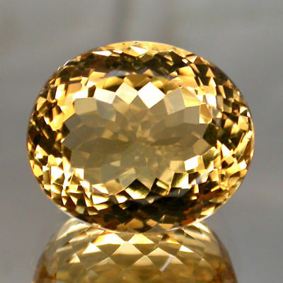 Clean Gem! 16.56ct. Oval 100%natural Top Yellow Golden Citrine Brazil Unheated