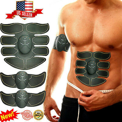 USA EMS Remote Control Abdominal Muscle Trainer Smart Body Building Fitness Abs