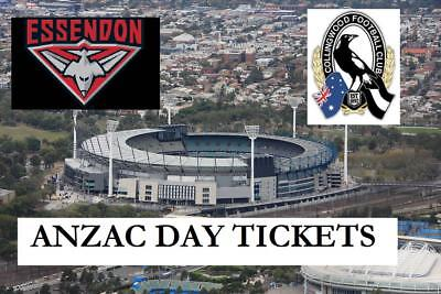 Collingwood Magpies v Essendon Bombers ANZAC DAY Tickets