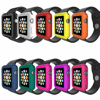 Soft Silicone Case Cover Protector Bumper For Apple Watch Series 3 2 38/42mm KU