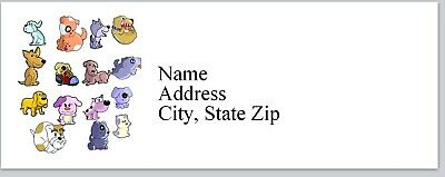 Personalized Address Labels Colorful Dogs Buy 3 get 1 free (bx 356)