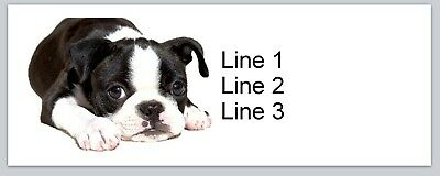 Personalized Address Labels Dog Boston Terrier Buy 3 get 1 free (bx 353)