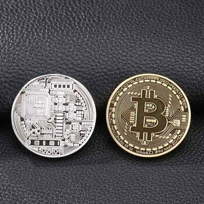 Bitcoin Physical Bitcoin BTC Cryptocurrency Collectible Coin Model Toys in Case