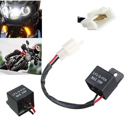 2 Pin Electronic LED Flasher Relay Motorcycle Turn Signal Bulbs Hyper Flash GT