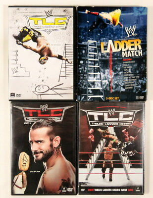 TABLES LADDERS CHAIRS WWE Wrestling Lot 6-dvds 2009-2011 Ladder Match 79-06 RAW