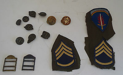 Vintage Us Army Ww 2  Flaming Sword Patch, Emblems, Buttons, Staff Chevrons