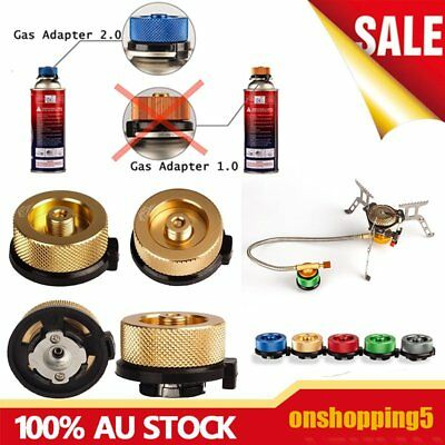 Picnic Gas Jet Portable Stove Burner Cooking Hiking Camping Gear Adapter FK