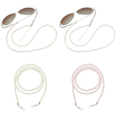 Elegant Pearl Beaded Eyeglass Chain Sunglasses Holder Lanyard Necklace Cord