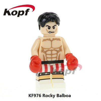Rocky Balboa Sylvester Stallone Boxing Action Figures Building Blocks Toy