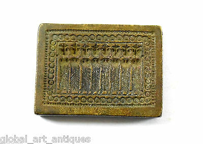 Vintage Beautiful Designs Bronze Hand Casted Jewellery Dye/Seal/Stamp. G46-173