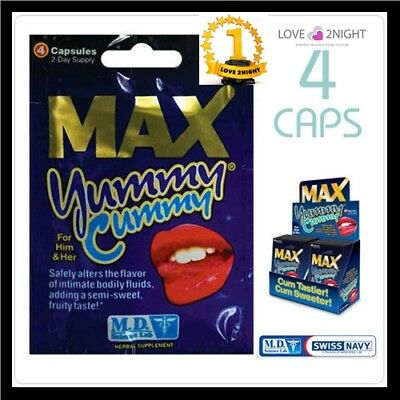 Max Yummy Cummy /  For Him & Her  / Sweet 4 Tablet Pack / LOVE 2NIGHT