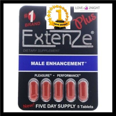 ExtenZe Plus For Men / Male Enhancement Sex Pills / 5 Day Supply / LOVE 2NIGHT