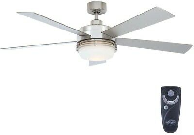 Hampton bay mondrian 52 brushed nickel ceiling fan light kit remote hampton bay sussex ii 52 brushed nickel ceiling fan light and remote control aloadofball Images