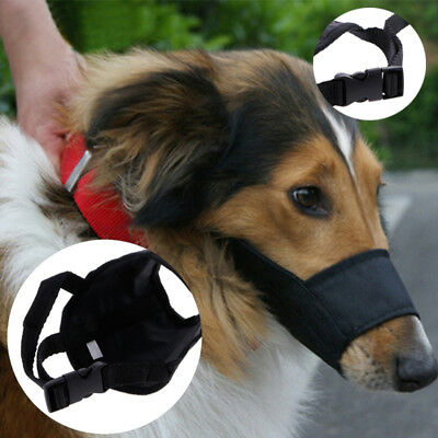 Black Dog Muzzle Anti Stop Bite Barking Chewing Mesh Mask Training Accessories