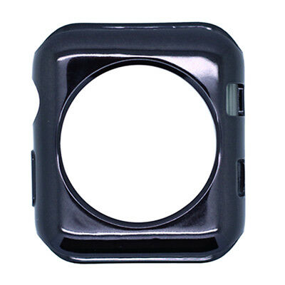 Black 42mm iwatch plating TPU protective shell silicone soft case for iwatch2/3