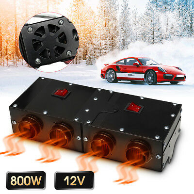 12V 800W 4 Fans Car Heating Warmer Thermostat  Window Defroster Demister Heater