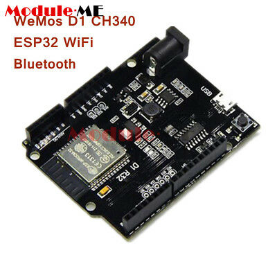 ESP32 WiFi+Bluetooth+UNO WeMos D1 R32 4MB Flash CH340 Board for Arduino UK