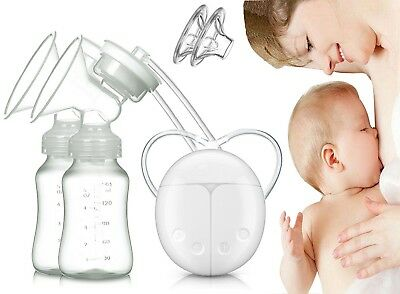 Dual Electric Breast Pump with Charge Plug and Automatic Massage for Postpartum