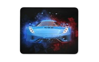 Awesome Blue Sports Car Mouse Mat Pad - Dad Brother Son Gift PC Computer #8739