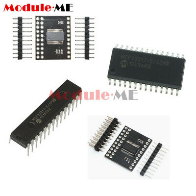 MCP23017 DIP SOP Bidirectional 16-Bit I/O Expander I2C IIC/SPI Serial Interface