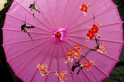 Japanese L Purple Red Pink Cherry Blossom Parasol Umbrella Chinese Wedding Party