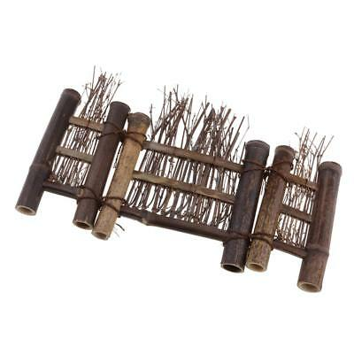 Mini Fence Home Chinese Style Tea Ceremony Natural Bamboo Rustic Decor M#4