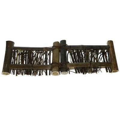 Mini Fence Home Chinese Style Tea Ceremony Natural Bamboo Rustic Decor L#3