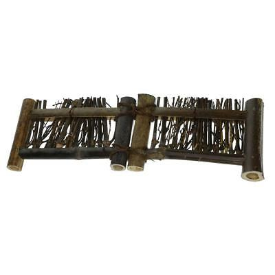Mini Fence Home Chinese Style Tea Ceremony Natural Bamboo Rustic Decor M#3