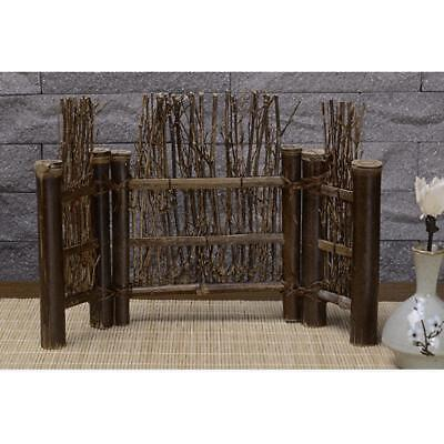 Mini Fence Home Chinese Style Tea Ceremony Natural Bamboo Rustic Decor L#4